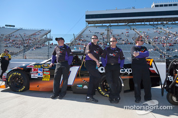 Joe Gibbs Racing Toyota crew members for Denny Hamlin