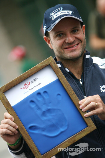 Rubens Barrichello, Williams F1 Team, hand printing session