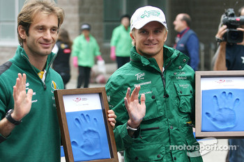 Jarno Trulli, Lotus F1 Team and Heikki Kovalainen, Lotus F1 Team