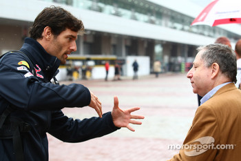 Mark Webber, Red Bull Racing and Jean Todt, FIA president