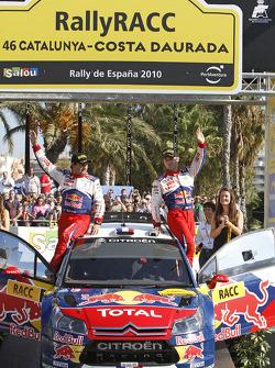 Podium: winners Sébastien Loeb and Daniel Elena, Citroën C4, Citroën Total World Rally Team