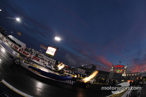 The Strip at LVMS at sunset