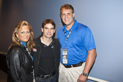 As the Sound Off About Pertussis song contest winner, Maria Bennett, a lifelong NASCAR fan and mother from Loxahatchee, Fla., meets her favorite driver Jeff Gordon, Hendrick Motorsports Chevrolet