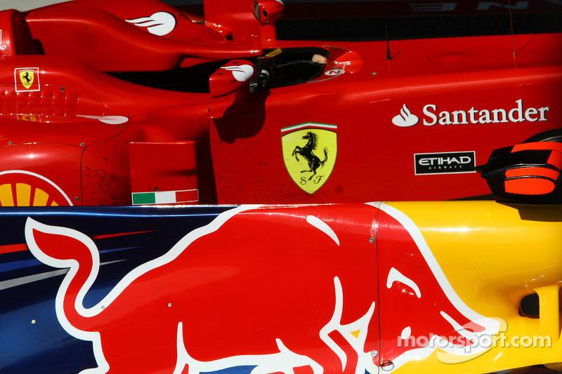 Ferrari and Redbull