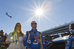 Kurt Busch, Penske Racing Dodge and his wife Eva