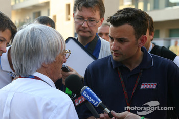 Bernie Ecclestone and Will Buxton