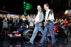 Chief technical officer Adrian Newey and team principal Christian Horner