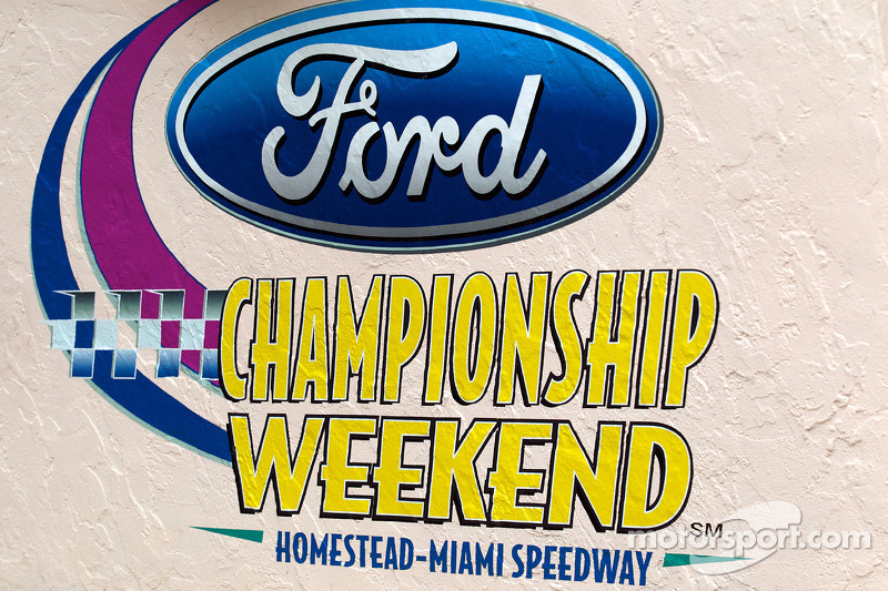 Championship contenders pre-race press conference: Ford Championship Weekend signage
