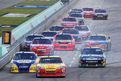 Kevin Harvick, Richard Childress Racing Chevrolet leads the field back to track