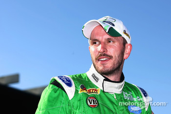 Paul Dumbrell after taking victory in race one at Sandown