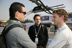 Manuel Reuter and Philip Sohmer ARD-TV are speaking with Maro Engel, Mücke Motorsport, AMG Mercedes C-Klasse
