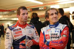 Sébastien Loeb and Alain Prost