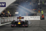 Sebastian Vettel in the Red Bull Racing F1 car