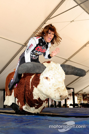 Miss Coors Light Rachel Rupert attends the National Final Rodeo Cowboys skills competition