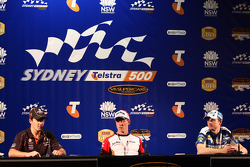 Post Race Press Conference: Jamie Whincup, #1 TeamVodafone, James Courtney, #18 Jim Beam Racing, Mark Winterbottom, #5 Ford Performance Racing