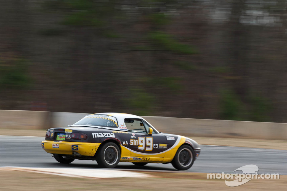 #99 TSA Racing 1997 Mazda Miata purple: tony senese, Sean Curran