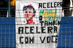 A banner for Felipe Massa, Scuderia Ferrari