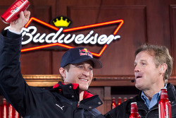 Kasey Kahne, Red Bull Racing Team Toyota and Kenny Wallace