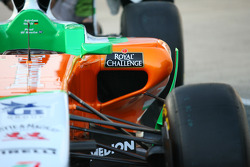 Force India side pod detail