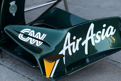 Team Lotus technical detail, front wing