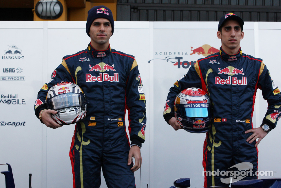 Jaime Alguersuari, Scuderia Toro Rosso and Sebastien Buemi, Scuderia Toro Rosso