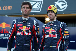 Mark Webber, Red Bull Racing and Sebastian Vettel, Red Bull Racing