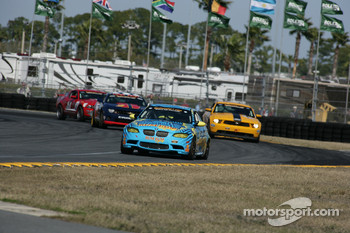 GS start: #13 Rum Bum Racing BMW M3 Coupe: Nick Longhi, Matt Plumb leads the field
