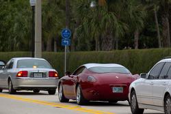 A Ferrari 575 GTZ Zagato on the streets of West Palm Beach