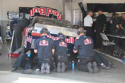 Red Bull Racing Team Toyota team members at work