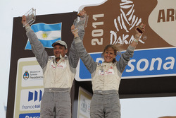 Podium: car category 16th place Isabelle Patissier and Thierry Delli Zotti