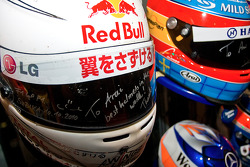 Sebastian Vettels Helmet used in the 2011 japanese GP