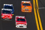 Trevor Bayne, Wood Brothers Racing Ford, Tony Stewart, Stewart-Haas Racing Chevrolet, Brad Keselowski, Penske Racing Dodge, Robby Gordon, Robby Gordon Motorsport Dodge