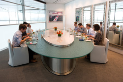Motorsport.com's Max Davies and members of the media visit the McLaren Technology Centre