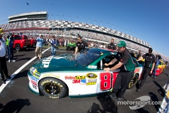 The pole winning car of Dale Earnhardt Jr., Hendrick Motorsports Chevrolet is pushed to the starting grid