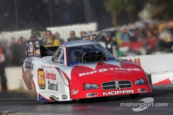Johnny Gray in his Service Central Funny Car
