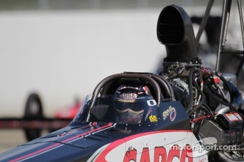 Steve Torrance aboard his Capco Top Fuel Dragster