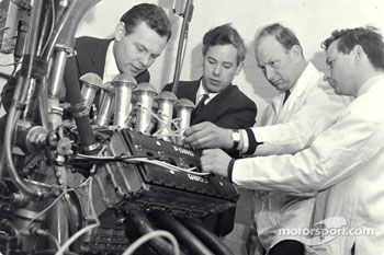 Cosworth Engineering: Bill Brown (Design and Development), Keith Duckworth (Engine Designer), Mike Costin (Team Cosworth), Ben Rood (Ford DFV F1 Engine).