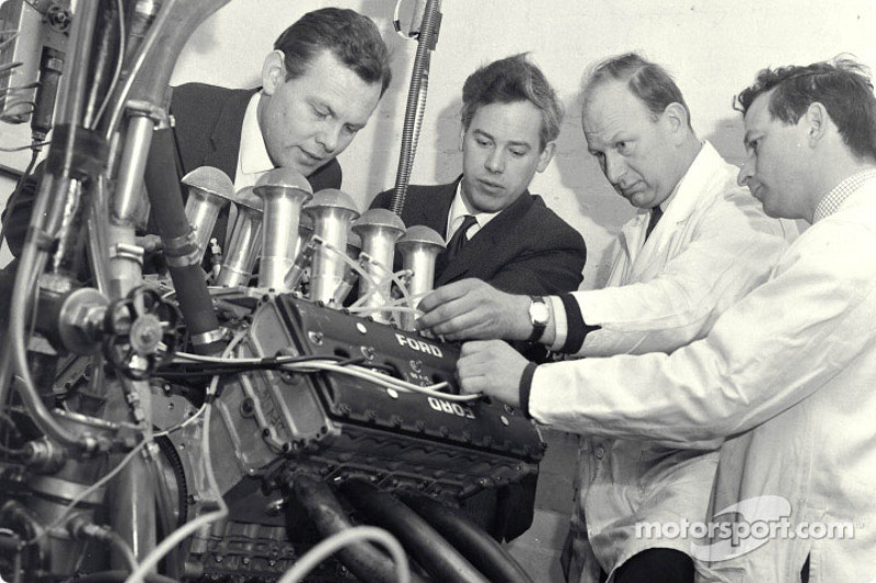 Cosworth Engineering: Bill Brown (Design and Development), Keith Duckworth (Engine Designer), Mike Costin (Team Cosworth), Ben Rood (Ford DFV F1 Engine)