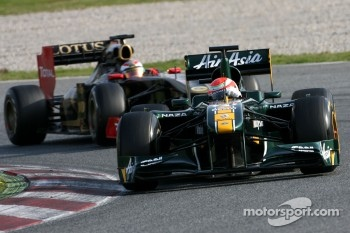 Jarno Trulli, Team Lotus and Vitaly Petrov, Lotus Renault F1 Team