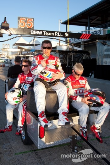 Allan McNish, Tom Kristensen and Rinaldo Capello