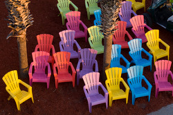 Colorful chairs at Sebring