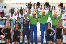 GTE-AM podium: class winners Tracy Krohn, Nic Jonsson and Michele Rugolo, second place Richard Lietz, Gianluca Roda and Christian Ried