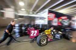 Dreyer & Reinbold Racing team member at work