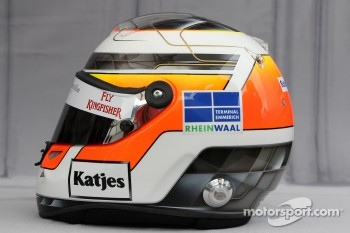 Helmet of Nico Hulkenberg, Test Driver, Force India