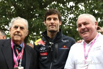Sir Jack Brabham, Mark Webber, Red Bull Racing and Alan Jones