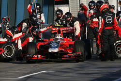 Jérôme d'Ambrosio, Marussia Virgin Racing pit stop