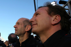 Podium: Christian Horner, Red Bull Racing, Sporting Director and Adrian Newey, Red Bull Racing, Technical Operations Director