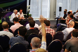 Charlie Whiting, FIA Delegate and Matteo Bonciani, FIA Media Delegate at a FIA Press Conference