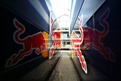 Red Bull Racing trucks in the paddock
