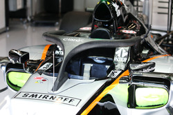 Sahara Force India F1 VJM09 with a Halo cockpit cover